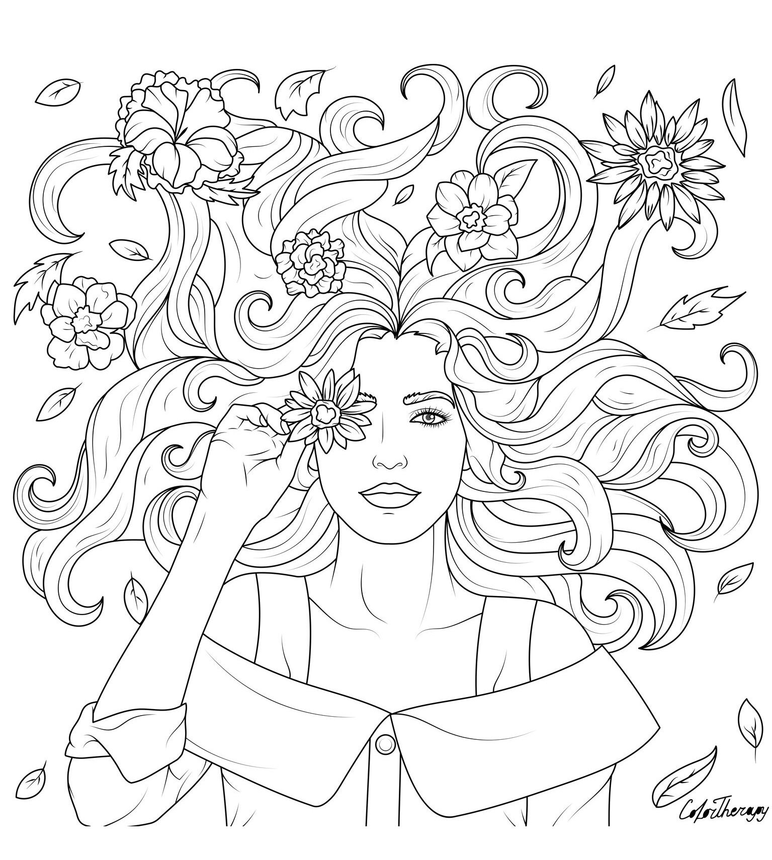 The Sneak Peek For The Next Gift Of The Day Tomorrow Do You Like This One Lady Desenhos Tumblr Para Colorir Flores Para Colorir Imagens Para Colorir [ 1710 x 1535 Pixel ]