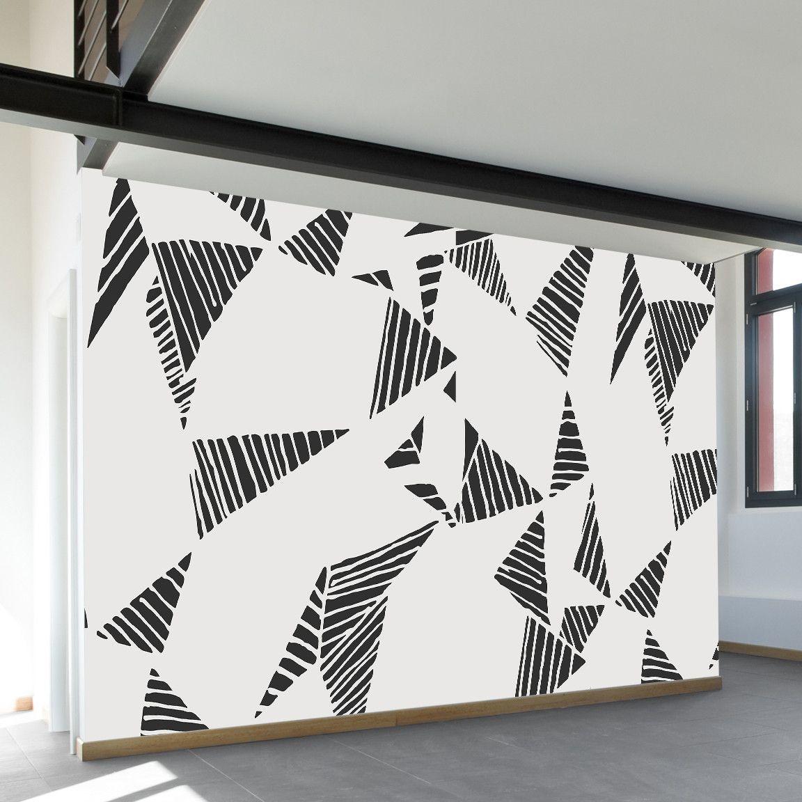 Hand Drawn Geometric Texture Wall Mural Wall Murals Removable Wall Murals Wall Patterns