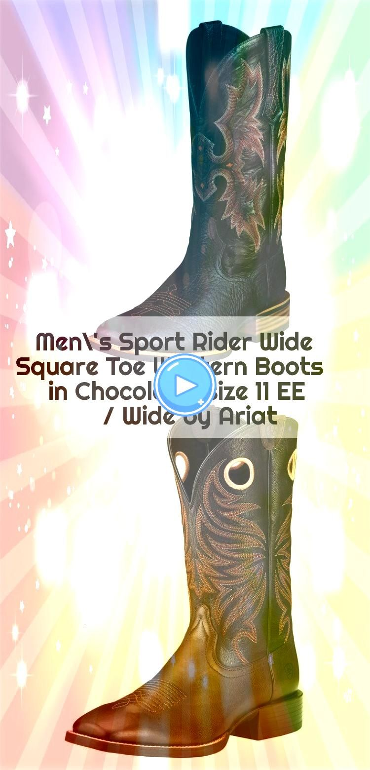 Sport Rider Wide Square Toe Western Boots in Chocolate size 11 EE  Wide by Ariat Mens Sport Rider Wide Square Toe Western Boots in Chocolate size 11 EE  Wide by Ariat  Me...