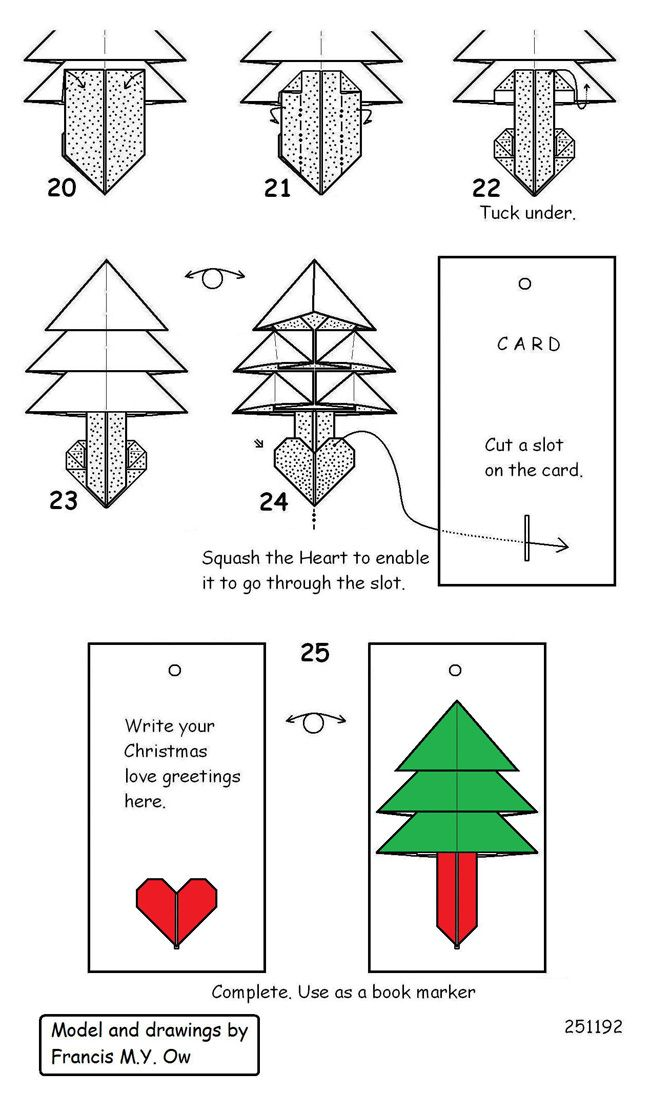 christmas origami diagram 2000 honda civic si distributor wiring heart tree craft pinterest paper crafts and diagrams
