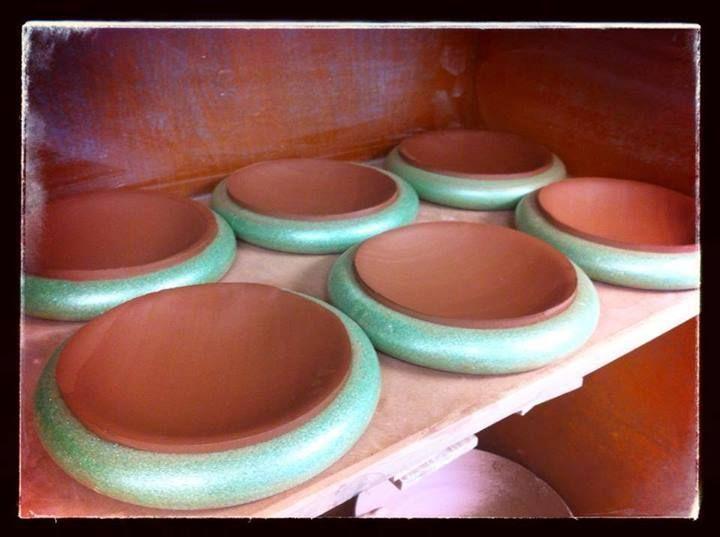 Pottery studio & styrofoam floral wreath slump molds | Pottery Clay | Pinterest ...