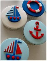 Sailing Boat Nautical Theme Cupcakes Baby shower Pinterest