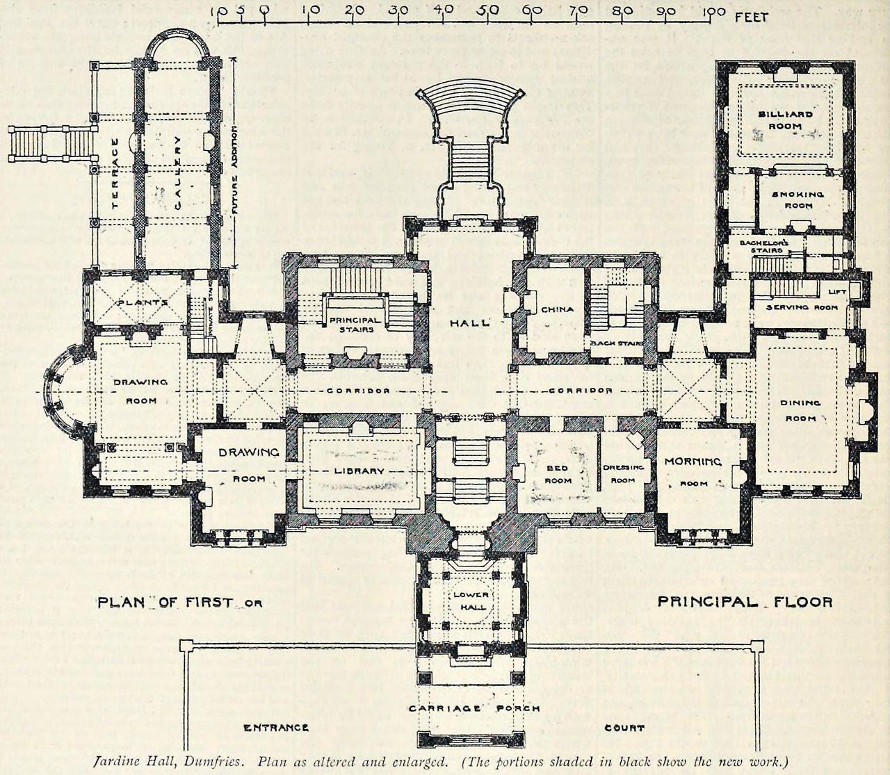 Jardine Apartments: Floor Plan Of The Extended Jardine Hall, Dumfries