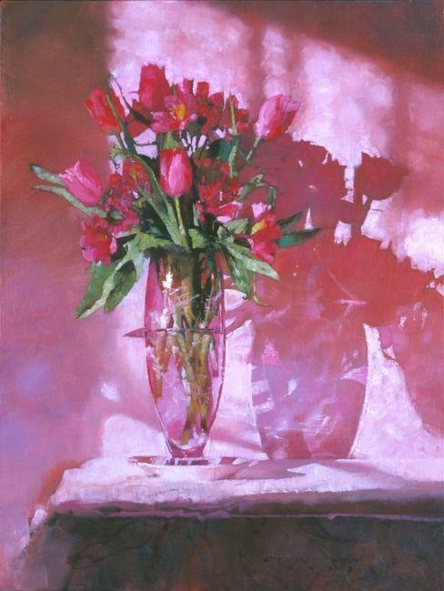 Tulips In Dark Pink #1  by C. Michael Dudash
