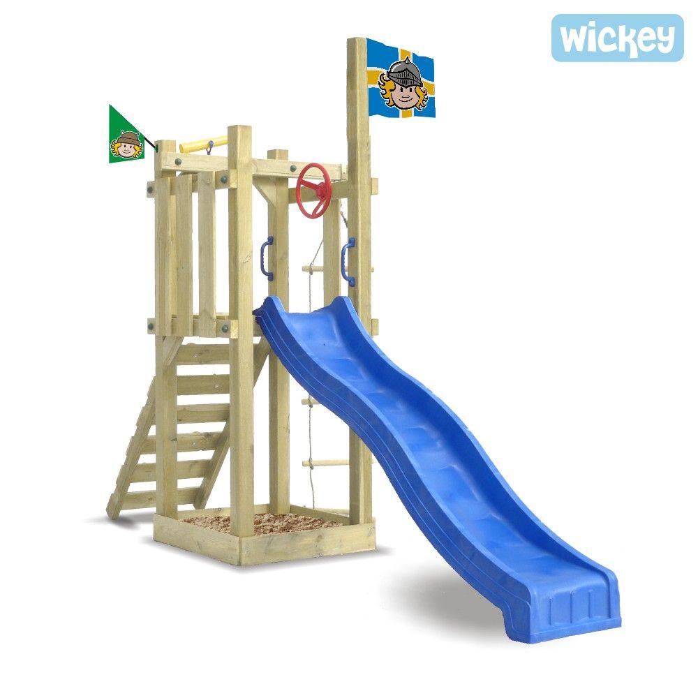 Simple Spielturm Wickey Castle Minodor Erobere den Garten