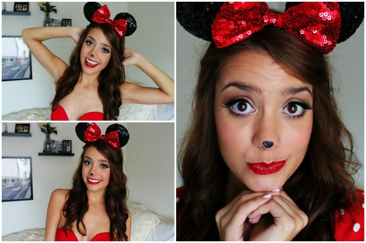 Minnie Mouse Halloween Tutorial Makeup Hair Outfit