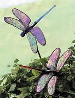 Merveilleux Dragonfly Garden Stake