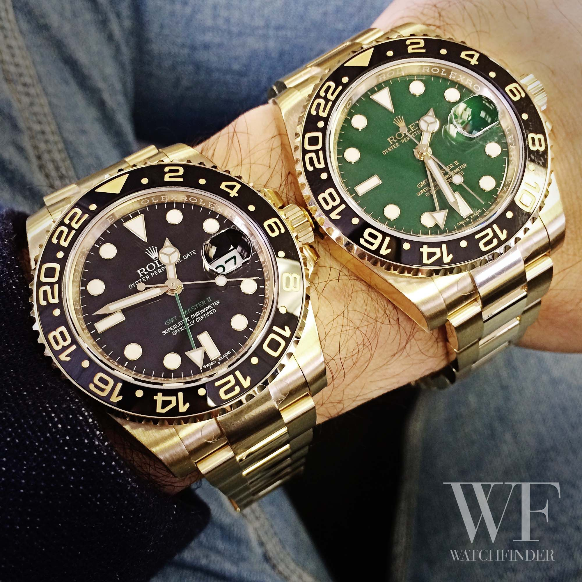 Decisions, decisions... Rolex GMT Master II in black or green?