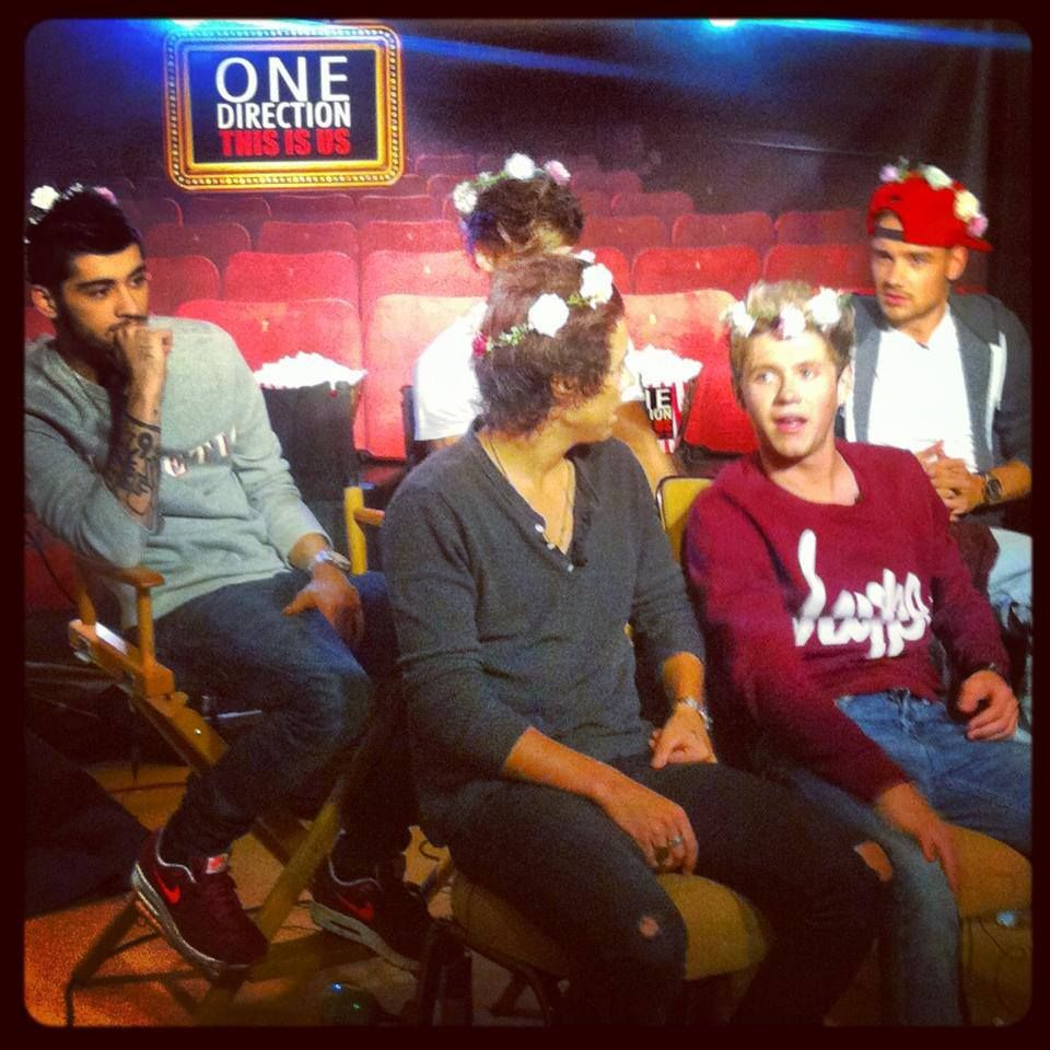 The band were given flower crowns as a gift! Do you think they pulled it off?