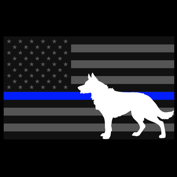 5x3 Inch Reflective Decal K9 Tactical Police Law