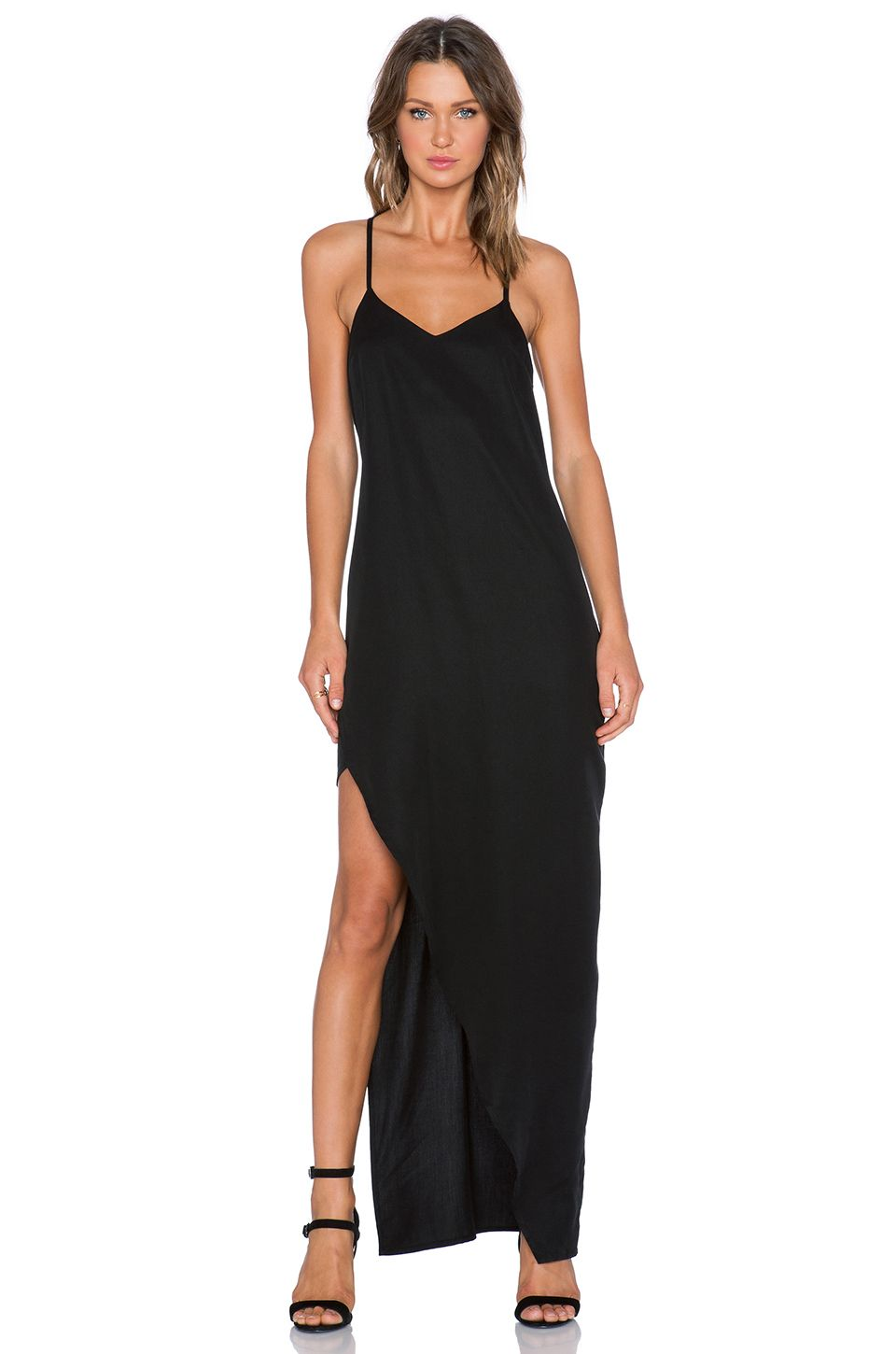 State of being anthracite maxi dress in black style all dressed