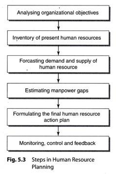 Advertisements Steps In Human Resource Planning Explained With Diagram Human Resource Plannin Human Resources How To Motivate Employees Resource Management