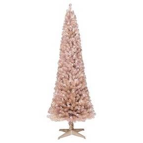 6ft pre lit artificial christmas tree slim rose gold spruce clear lights target - Target Christmas Tree Lights
