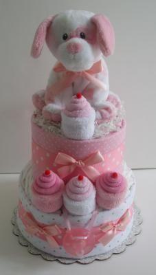 Cupcake diaper cake