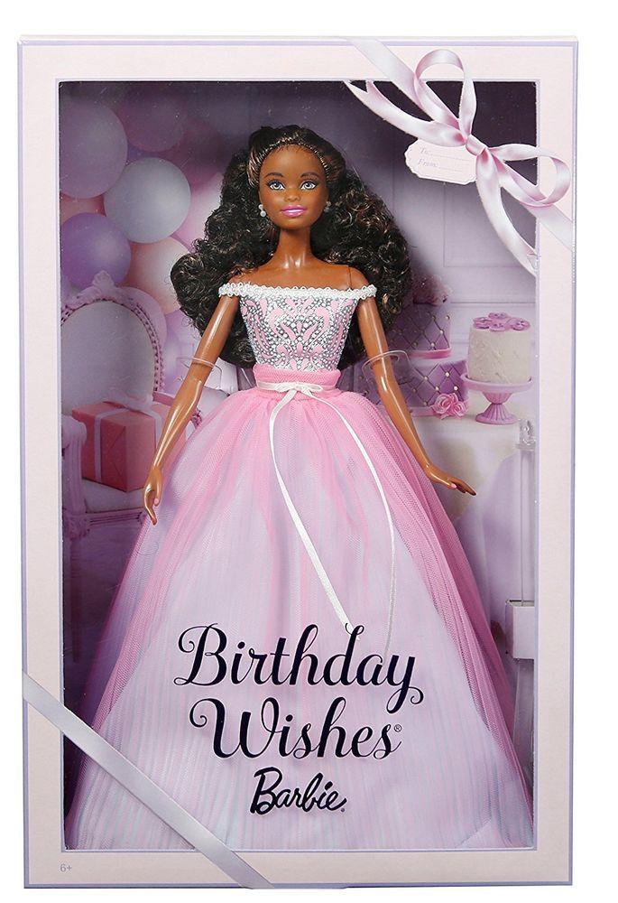 2017 Barbie Birthday WIshes AA Model Muse Doll Pink Silver Dress NIB Mattel