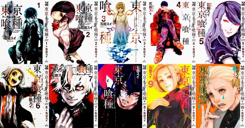 Resultado de imagem para tokyo ghoul manga covers