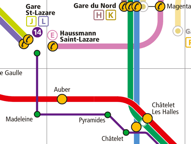 Map Paris Wheelchair Reduced Mobility Accessibility Metro Rer
