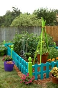 colorful garden (love the bright colors)