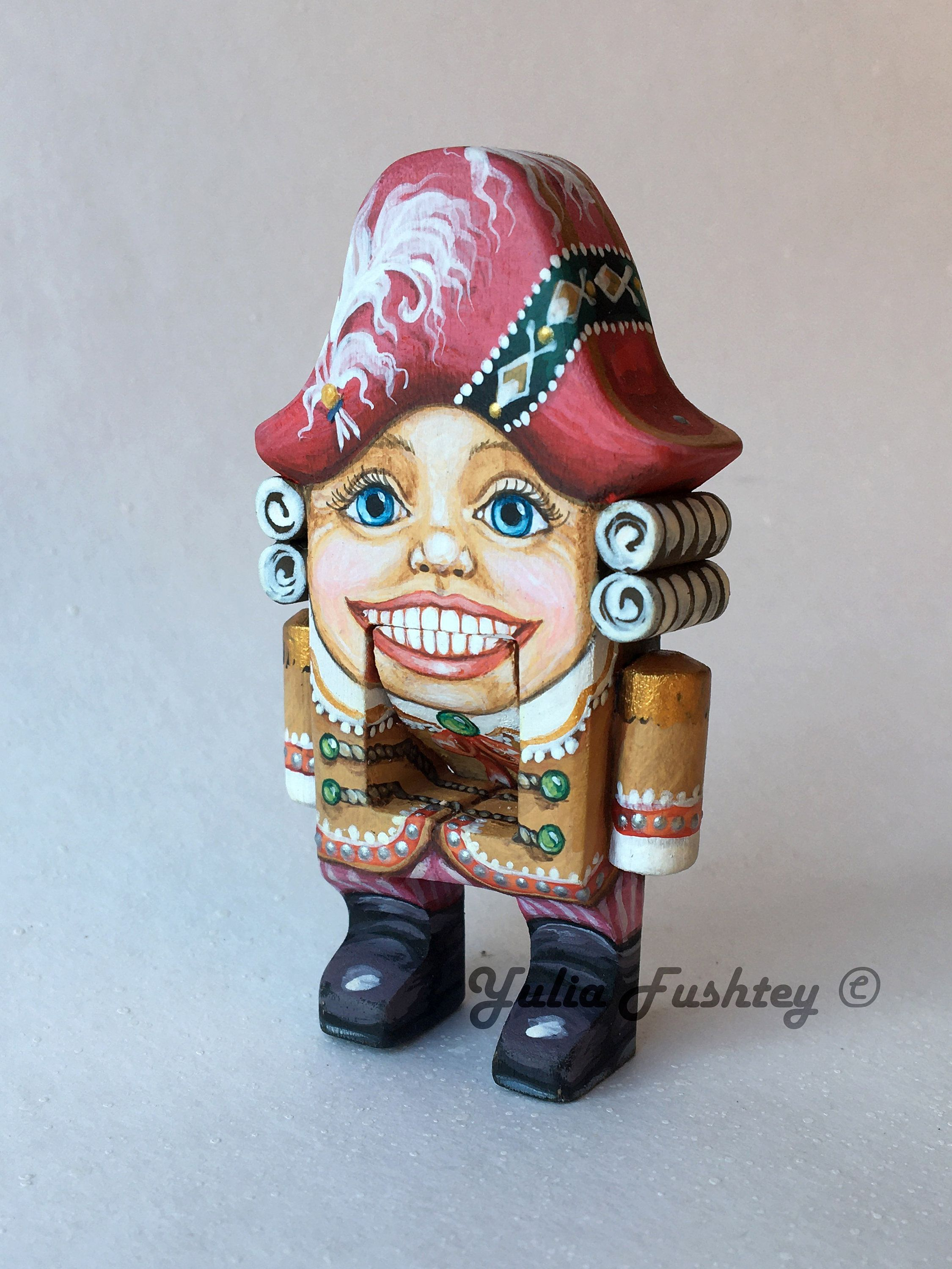 Miniature Vintage Standing Nutcracker Soldier  Wooden Christmas Decor Toy Holiday Gift