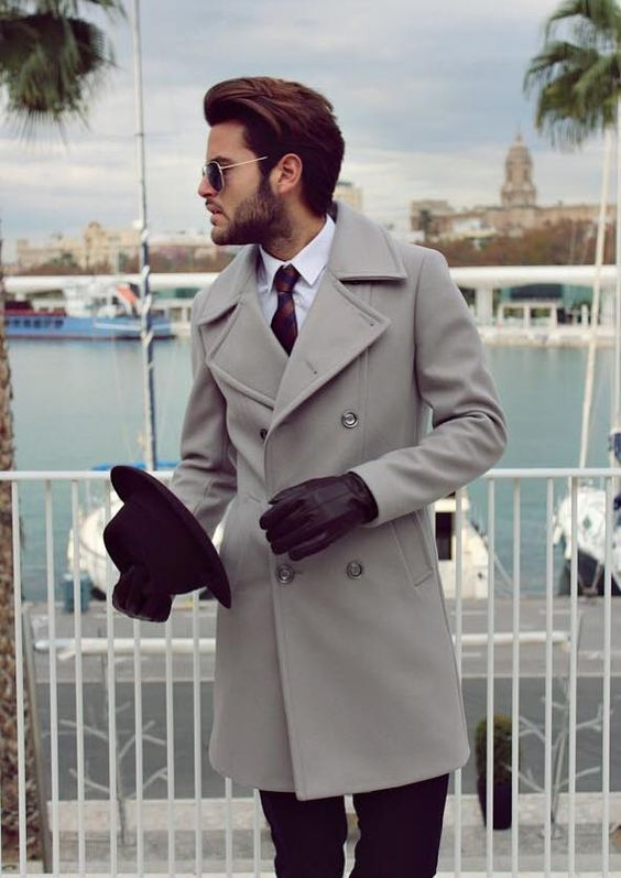 OMG! This Charcoal grey Overcoat is super Classy.