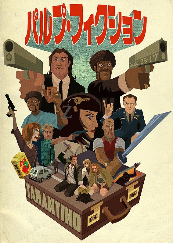 Herochan Pulp Fiction Created By Justin Orr