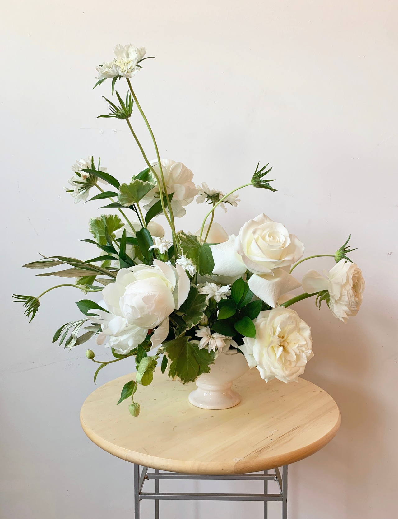 The Final Product From Our Timelapse This Week Can T Wait To Share More From This Beautiful White Flower Arrangements Floral Arrangements Flower Arrangements
