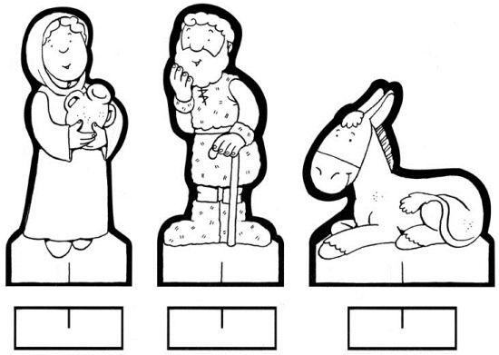 Figuritas recortables del Belen para colorear | Belenes, Colorear y ...