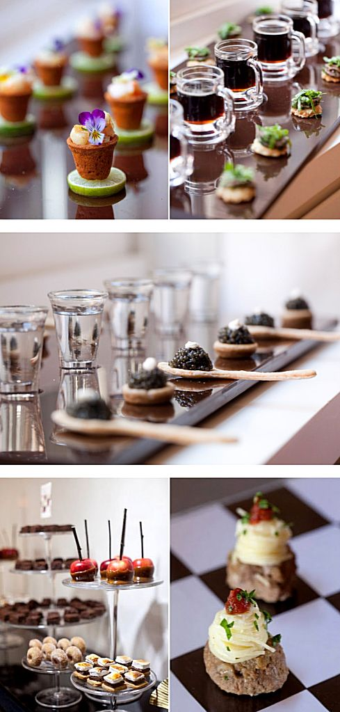 Appetizers Happy Hour Wedding Reception Canapes Pinterest