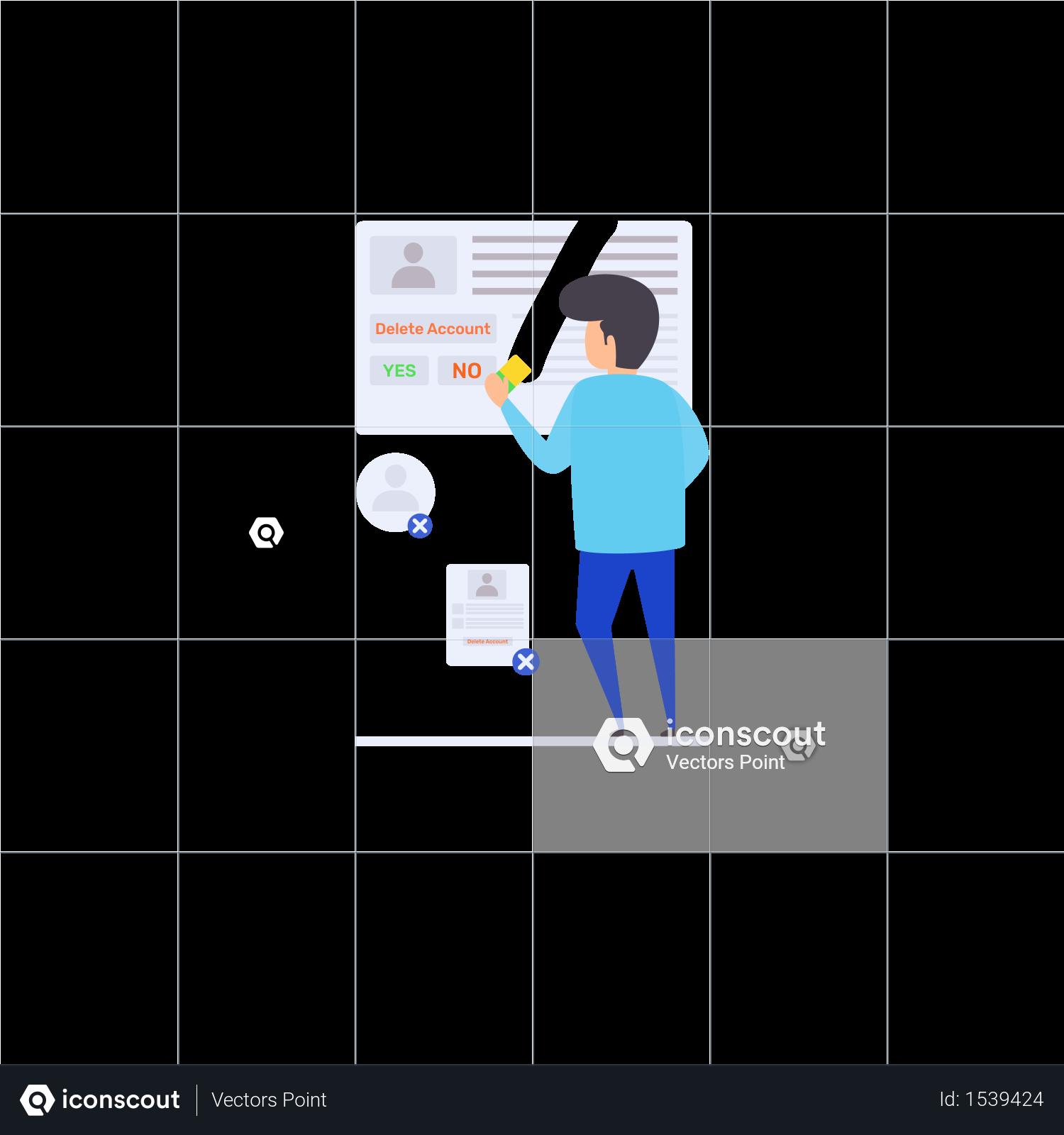 Premium Delete Personal Account Illustration download in