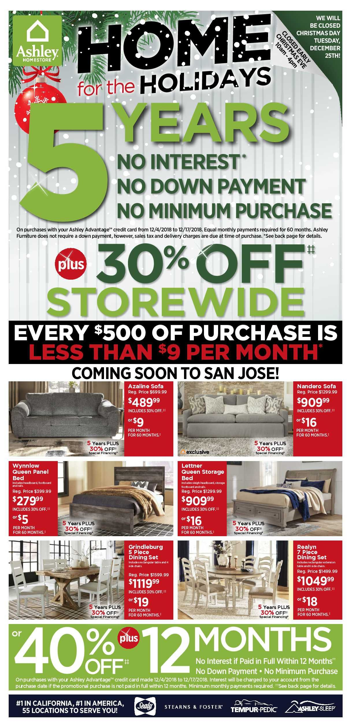 ashley furniture weekly deals flyer january 15 - 21, 2019