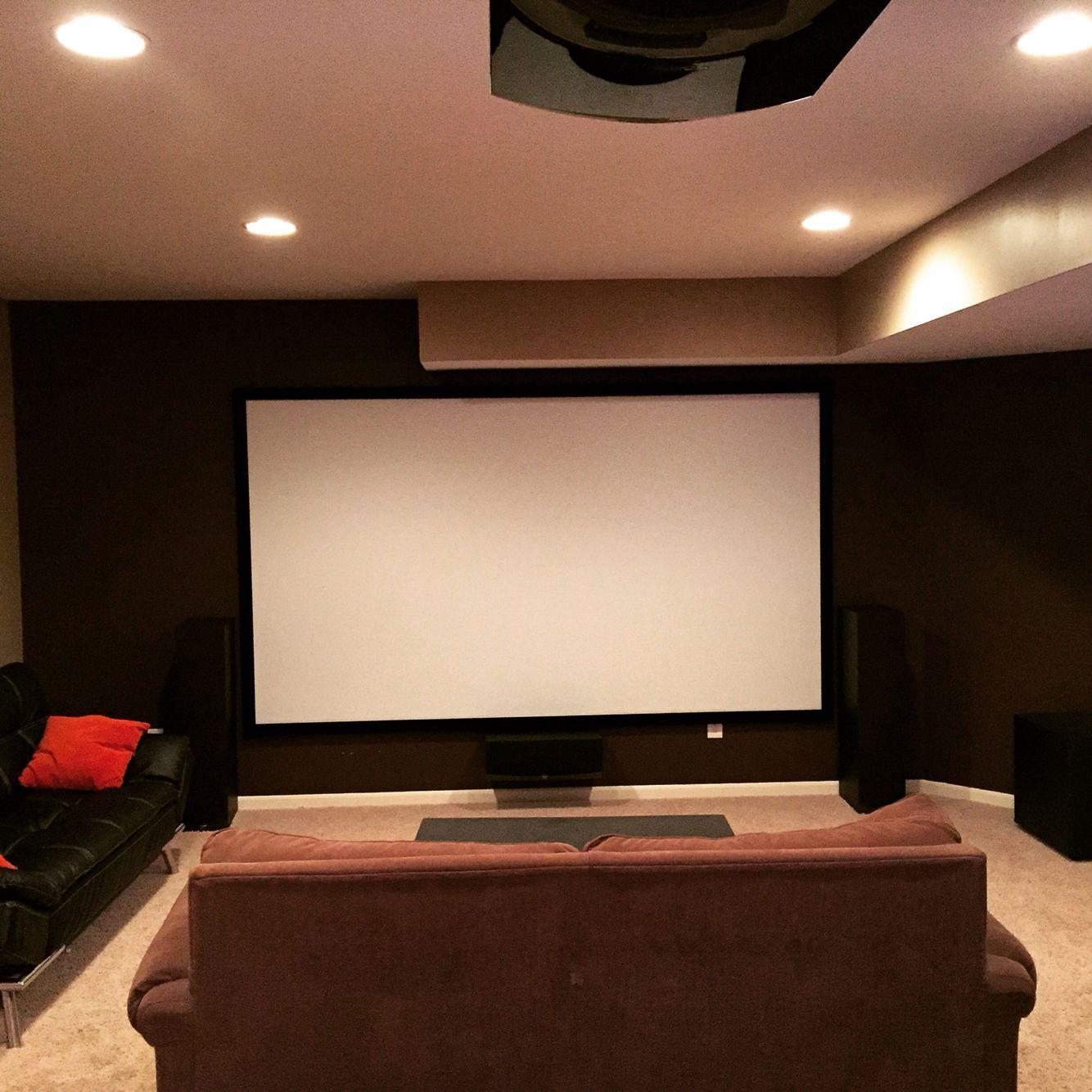 135 Silver Ticket Screen Dark Brown Back Wall Home Home Cinemas My Dream Home