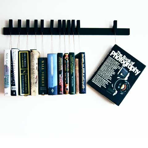 Wooden book rack via Etsy