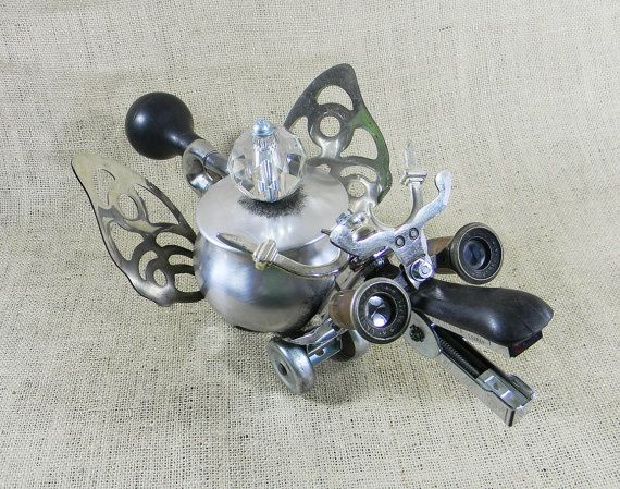 CLOSEOUT ITEM WISDOM  Robot Dragon Trinket Box  by reclaim2fame, $149.00
