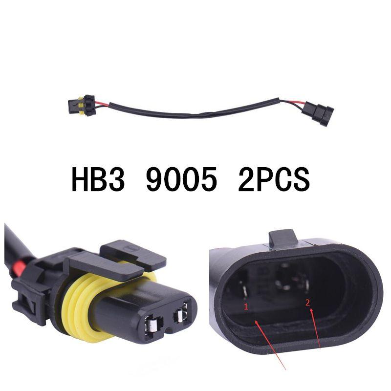 car styling 2pcs 9005 9005xs 9145 hb3 wiring harness socket wire rh pinterest com