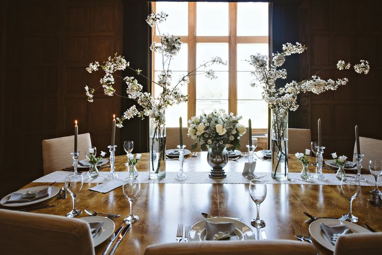 Beautiful Spring Blossom Country Wedding Ideas…   table centres ...