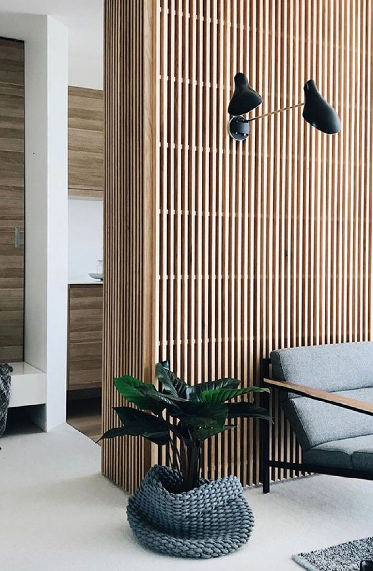 Wood Slat Trend In 2020 Wood Slat Wall Wooden Wall Design Interior Architecture