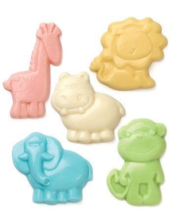 Make N Mold Baby Animal Mini Chocolate Candy Molds Birthday Party Favors Baby  Shower Safari Zoo Animals Lion Hippo Monkey Giraffe 8201