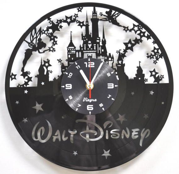 Disney Clock Vinyl Record Wall Clock Disney Castle Clock Wall