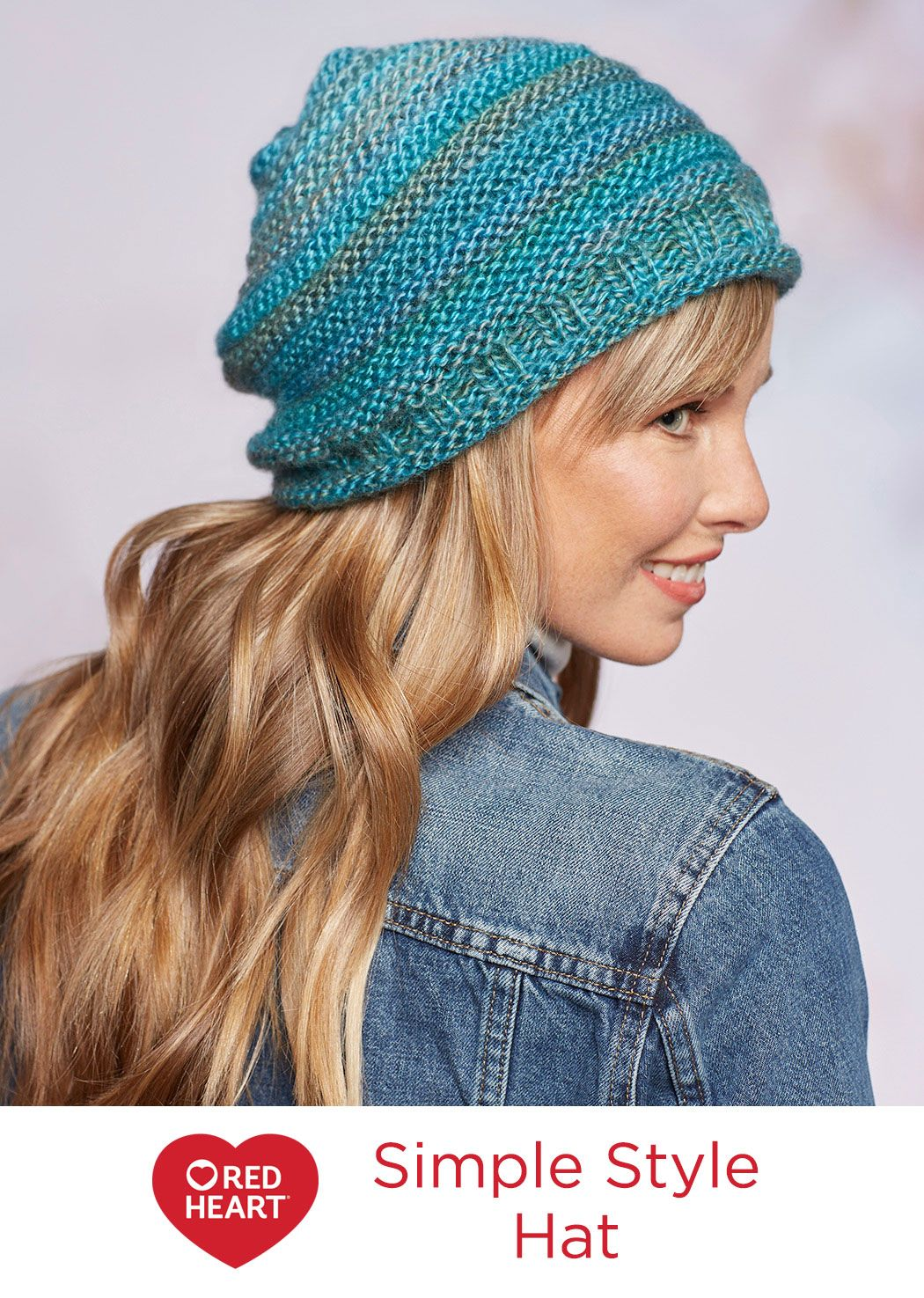 Simple style hat free knitting pattern in red heart yarns as with 50 free easy hat knitting patterns for winter to make you have come to the right place slouchy hats bulky yarn hats beanies berets and more bankloansurffo Images