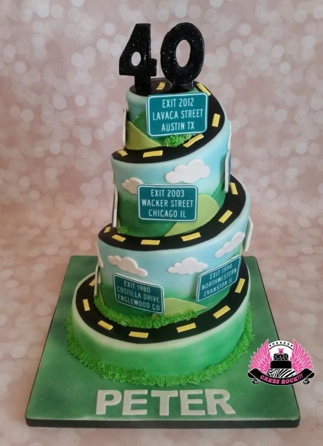 Road Of Life 40th Birthday By Cakes Rock Cakes Amp Cake
