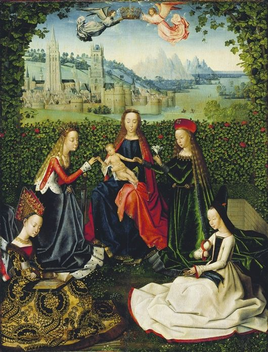 Virgin Of The Rose Garden By The Master Of The St Lucy Legend Ca