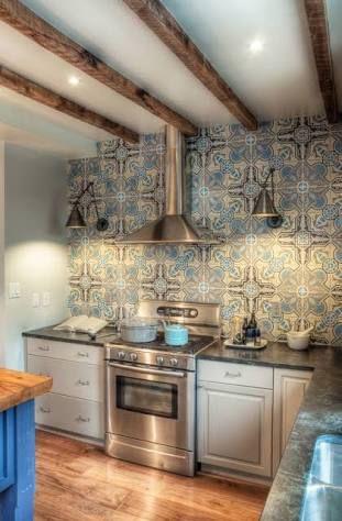 resultado de imagen para cocina con azulejos rusticos - Azulejos Rusticos