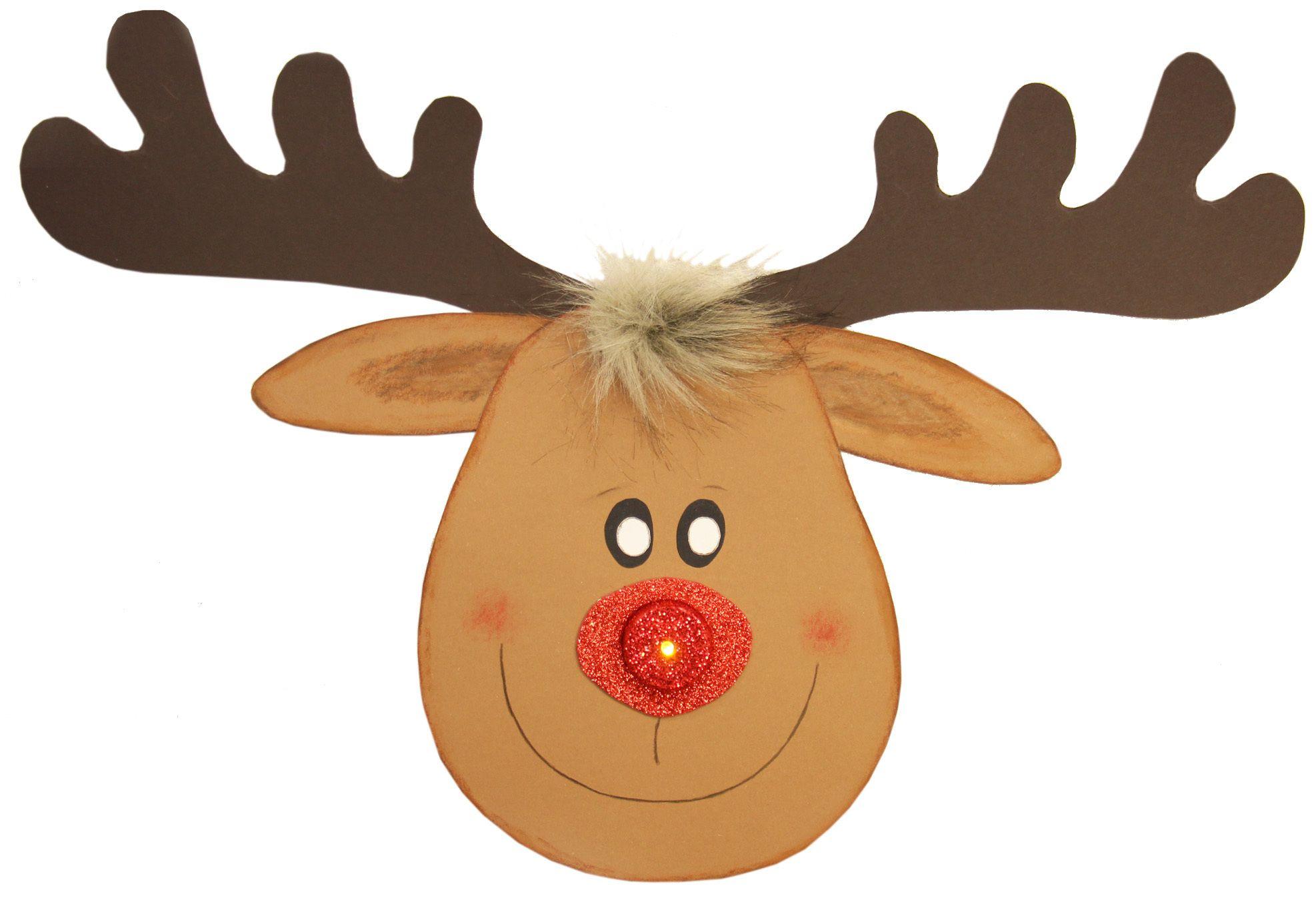 bastelvorlagen weihnachten kostenlos  rentier basteln