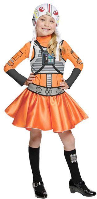 xwing pilot dress | Wing Fighter Pilot costume for girls