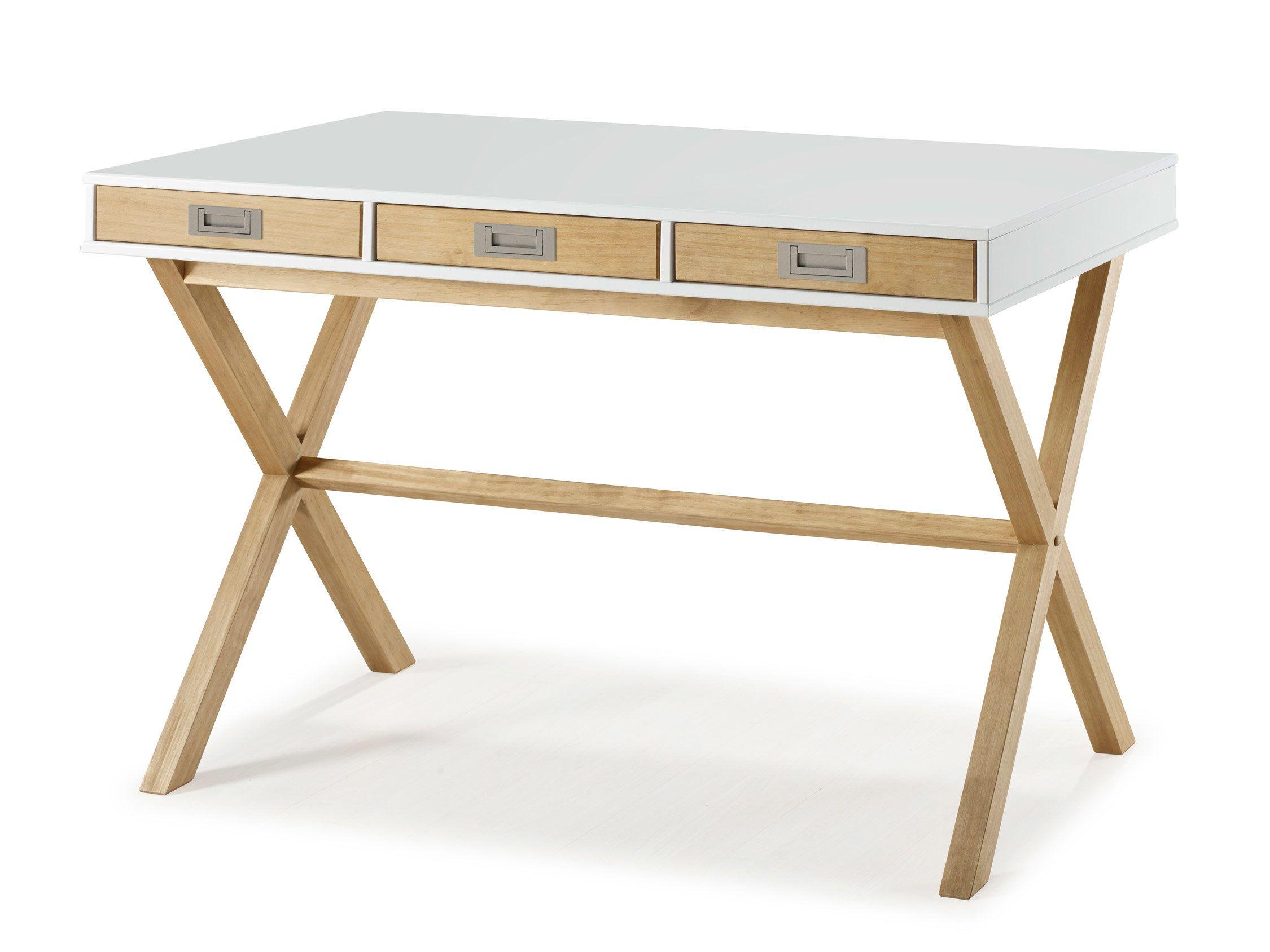 Mbu3475031 0403 2250 p00 bureau tiroirs bois laque blanc mat l120