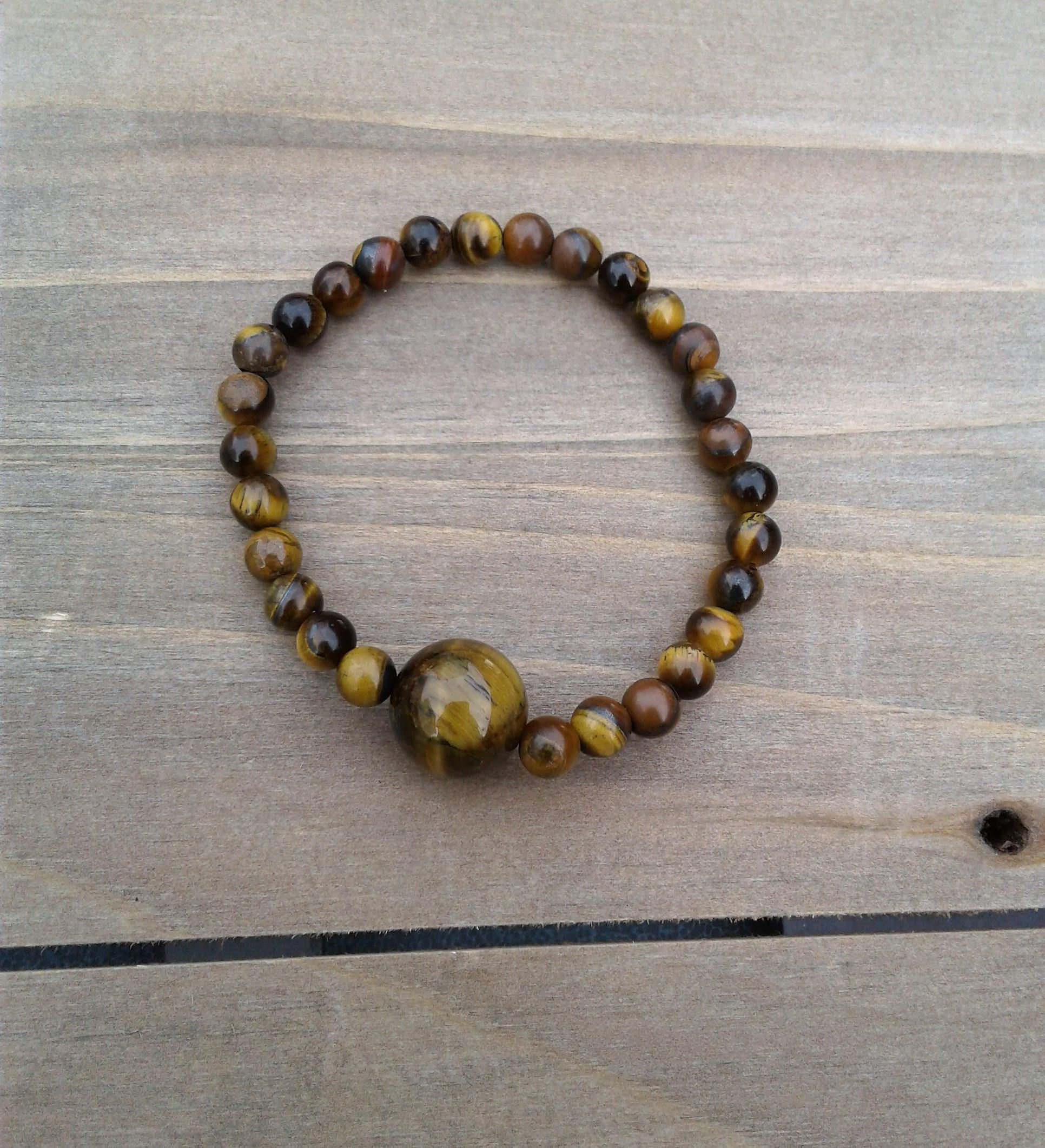 Tigers Eye Bracelet Healing Jewelry Womens Birthday Gift For Mom Mothers Day Under 10