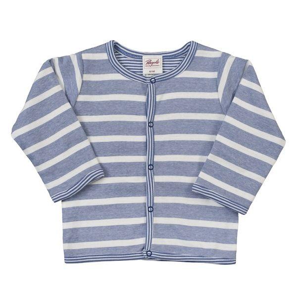 People Wear Organic – Baby Wendejacke blau/geringelt Bio Baumwolle | Avocadostore