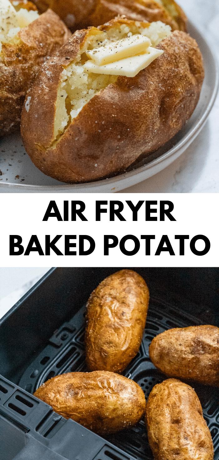 Air Fryer Baked Potato Air Fryer Baked Potato Side Dish Recipes Healthy Potato Nutrition