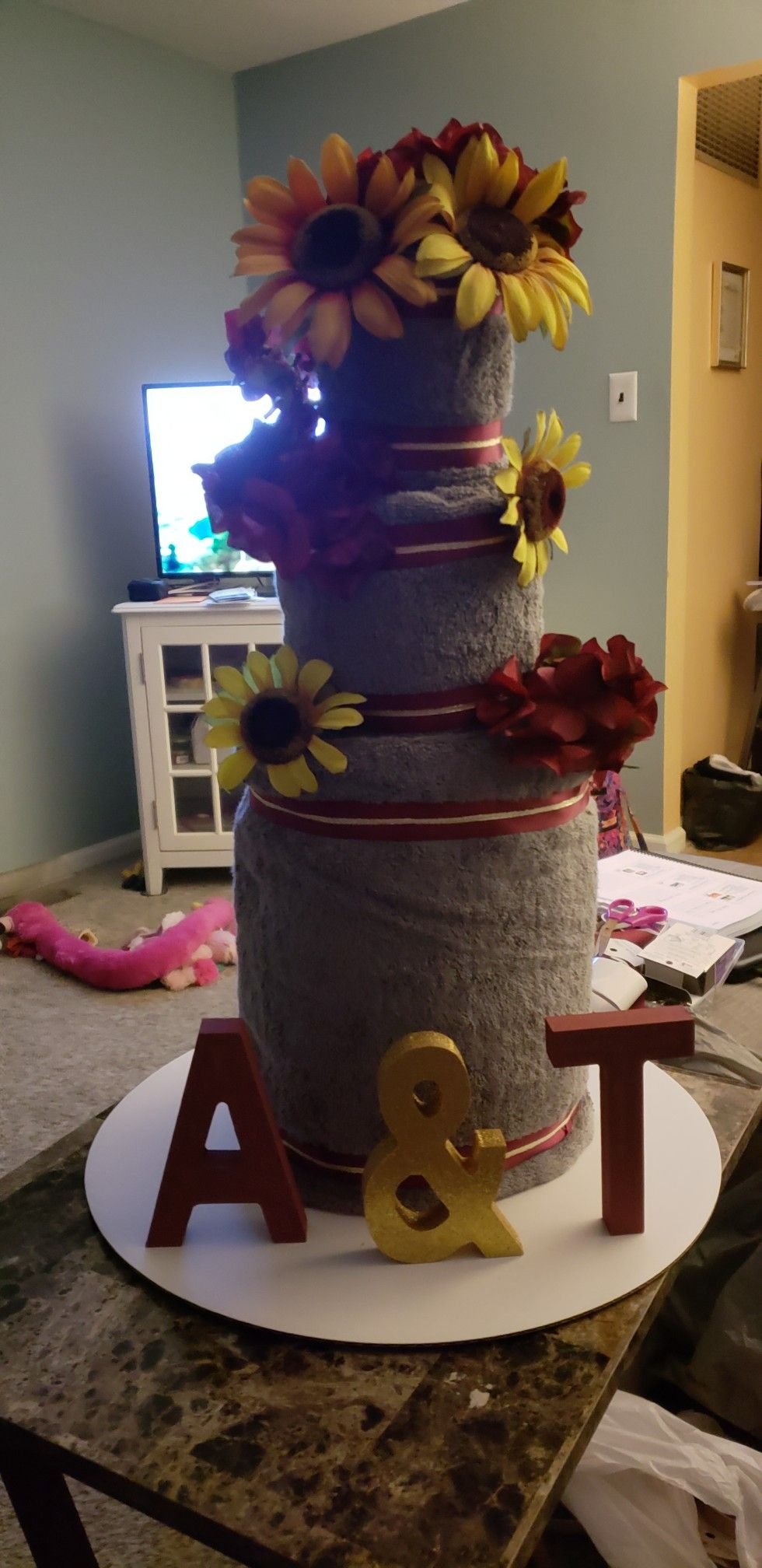 Pin By Aileen Bukowski On Wedding Towel Cakes - Pinterest