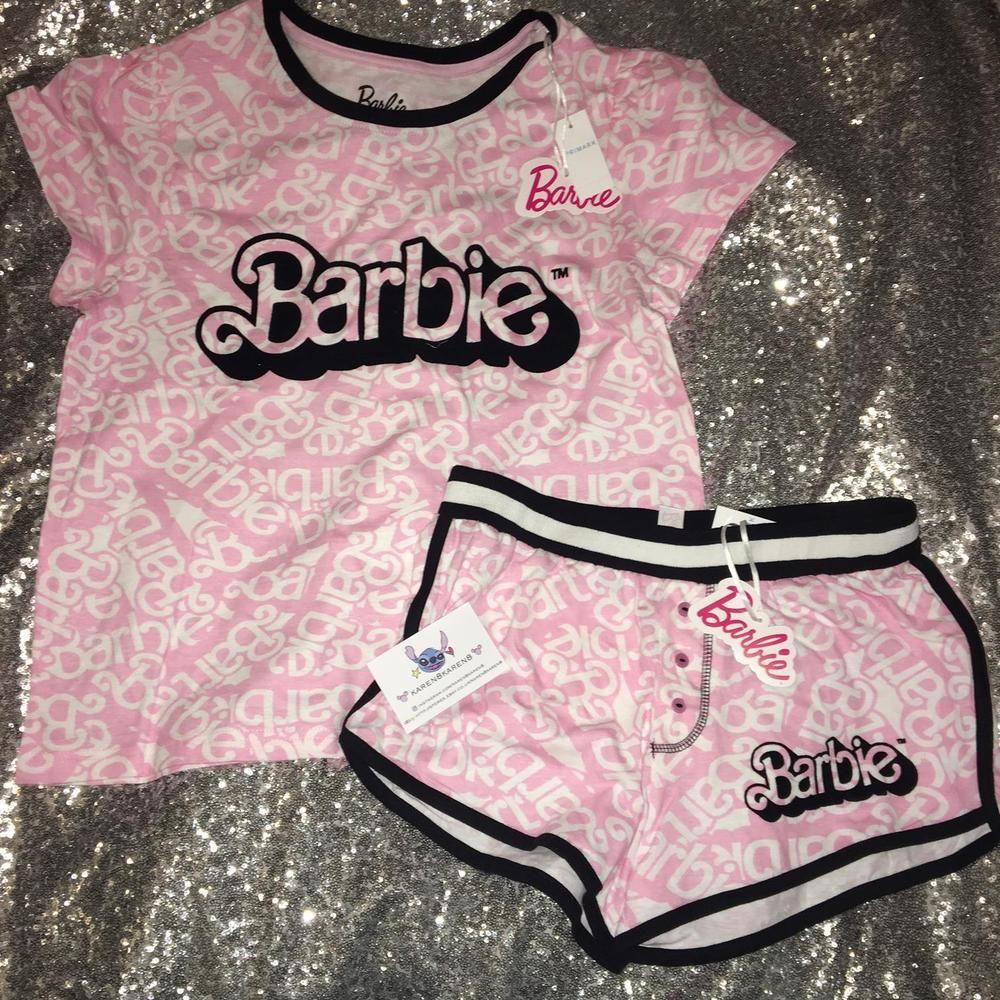 cf397ec1d Ladies BARBIE Pyjamas Primark T Shirt Shorts Womens Pajamas